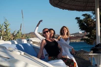 having fun in mykonos greece