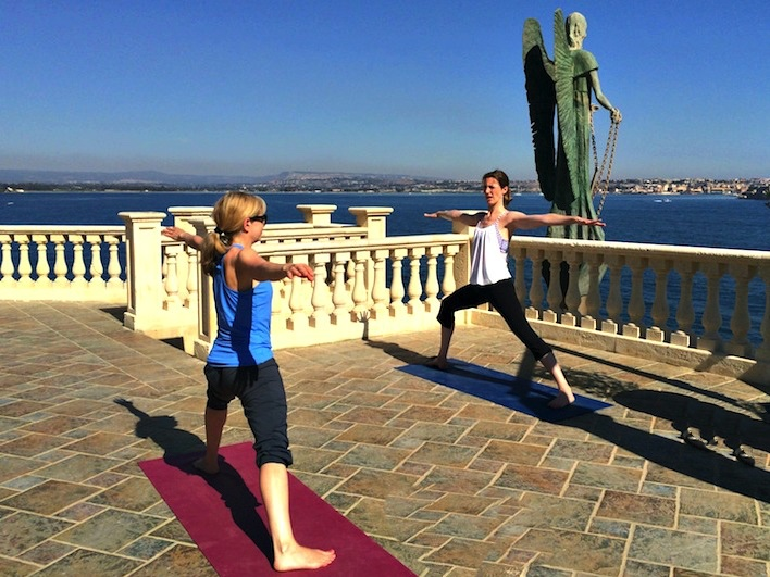 warrior two italy yoga retreat