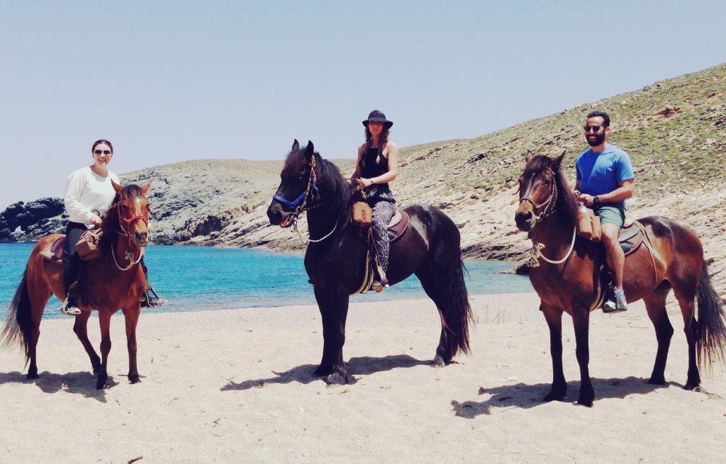 horseback riding mykonos greece yoga escapes