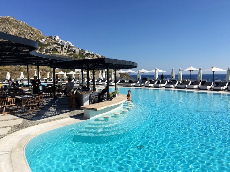 pool luxury hotel mykonos yoga escapes