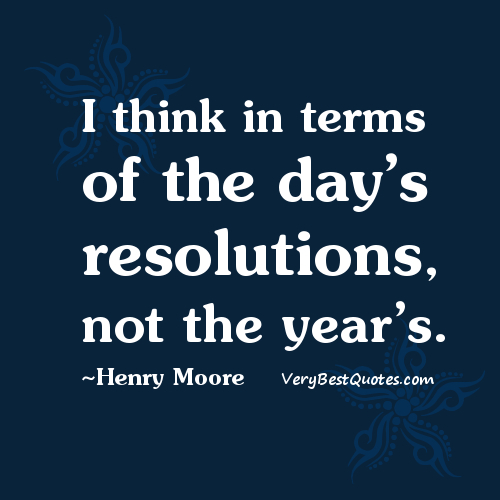 days resolutions