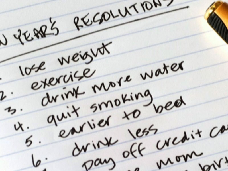new years resolutions january
