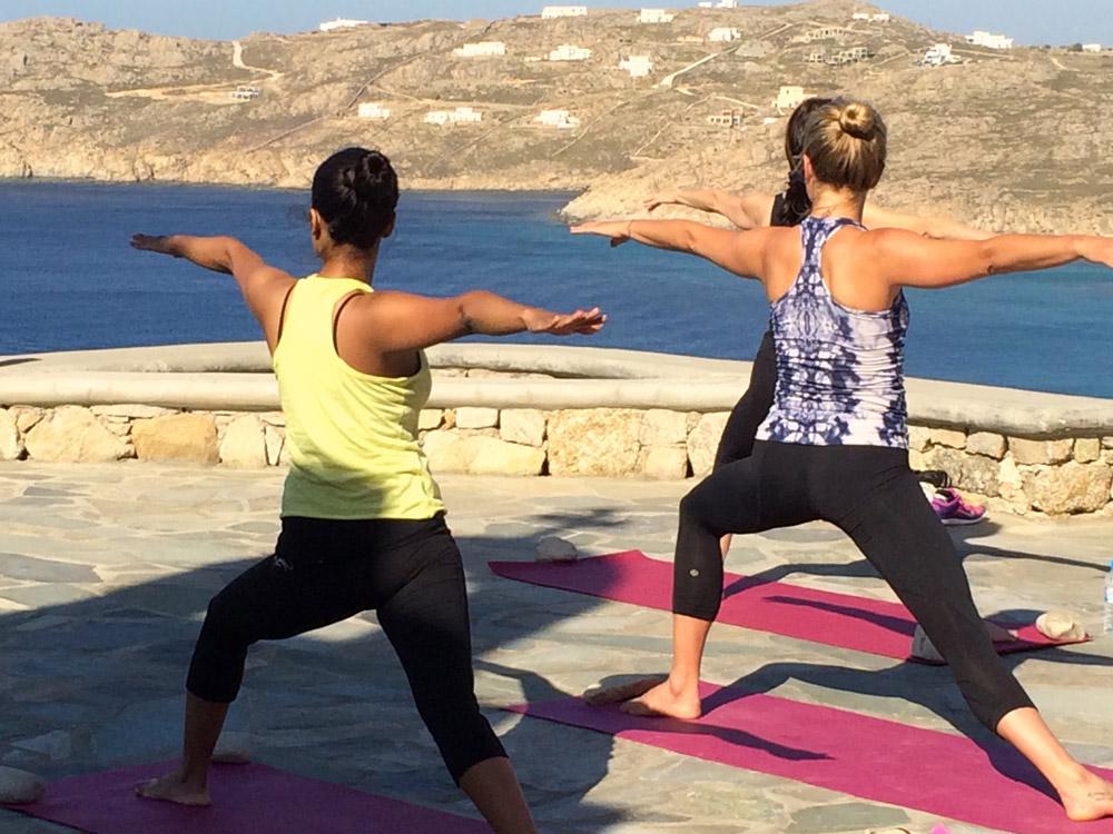 mykonos greece yoga classes on a luxury yoga retreat