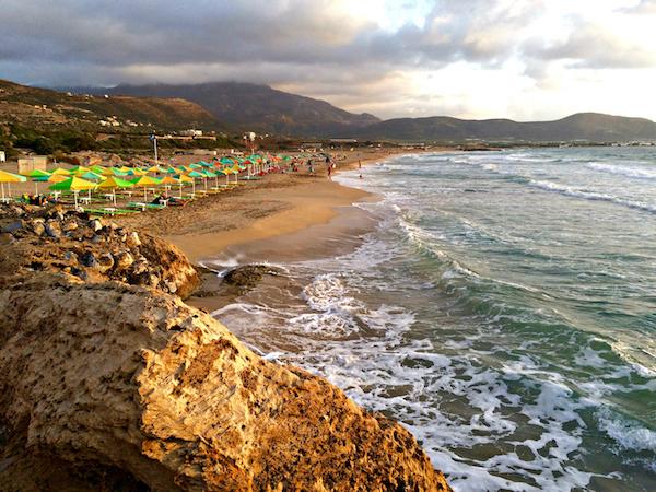 beautiful falasarna beach in crete
