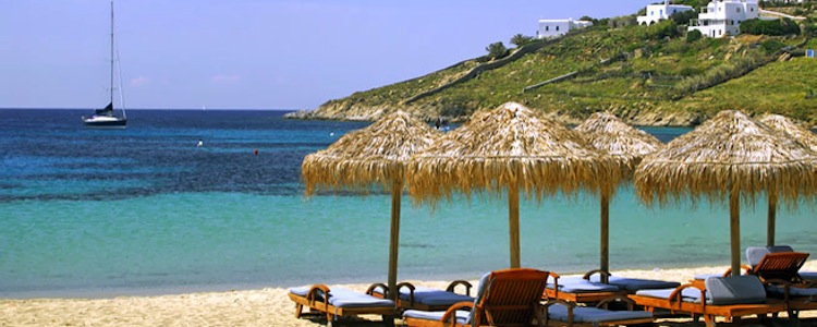 kalo livadi beach in mykonos greece