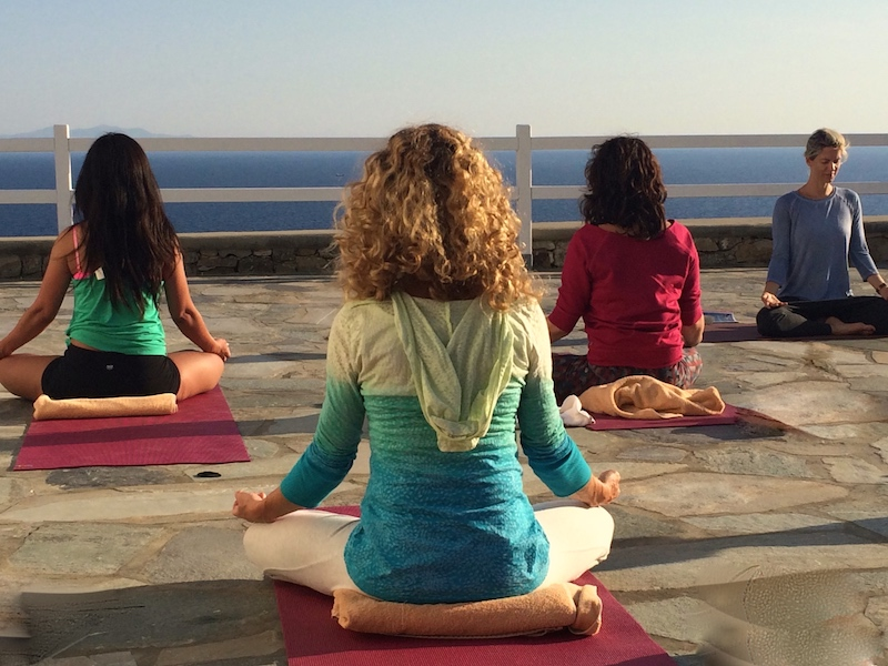 yoga meditation in mykonos greece