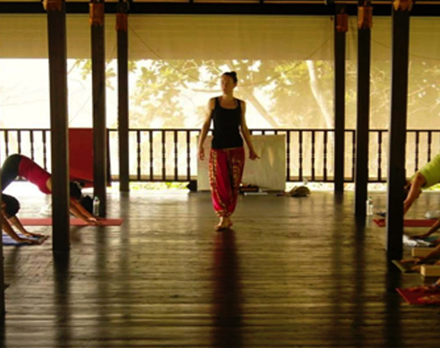 Lolo Lam yoga teacher with Yoga Escapes