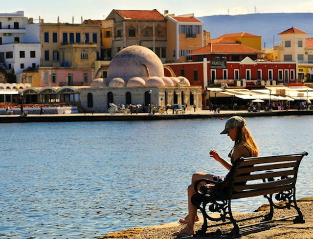 chania view of town on a yoga retreat in crete