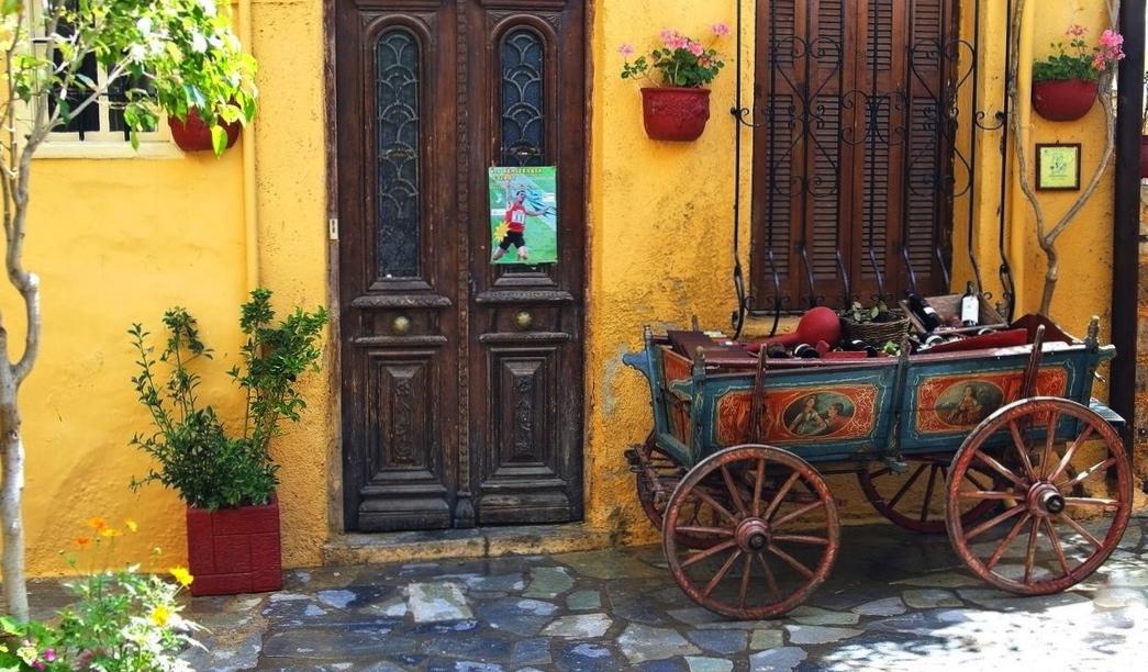 street in chania crete
