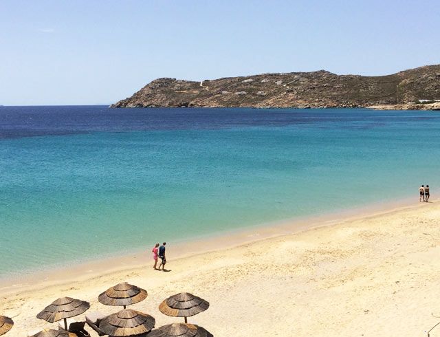 elia beach in mykonos greece