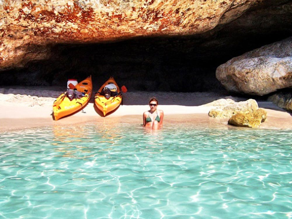 Kayaking in Menorca Spain a luxury yoga retreat with Yoga Escapes.
