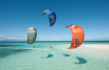 kite surfing in soma bay egypt on a luxury yoga retreat with Yoga Escapes