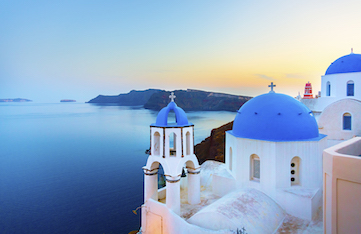 santorini greece day trip on a yoga retreat in crete