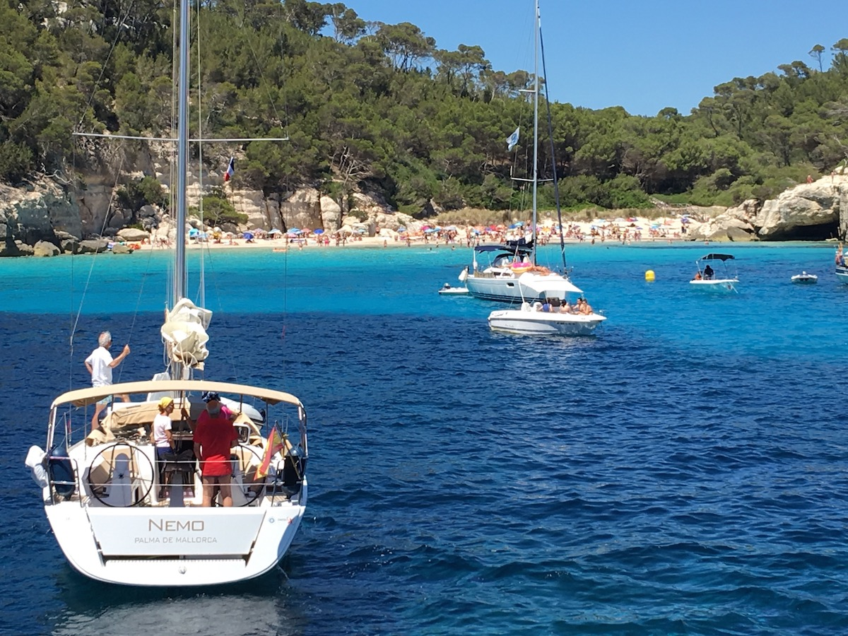 Sailing in Menorca Spain a luxury yoga retreat with Yoga Escapes.