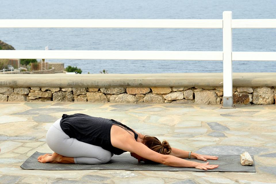 yin yoga class in greece with yoga escapes
