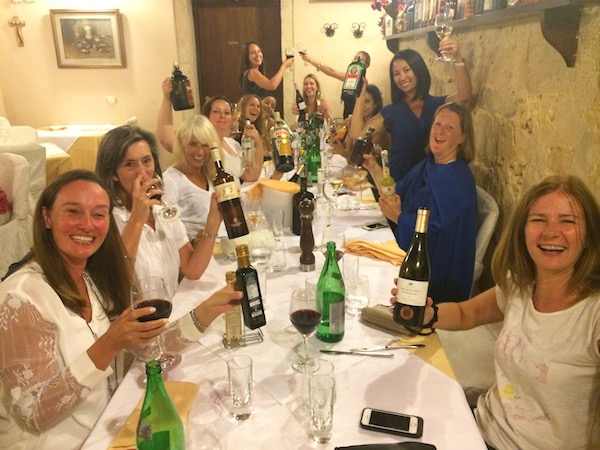 yoga retreat dinner at da seby restaurant in sicily