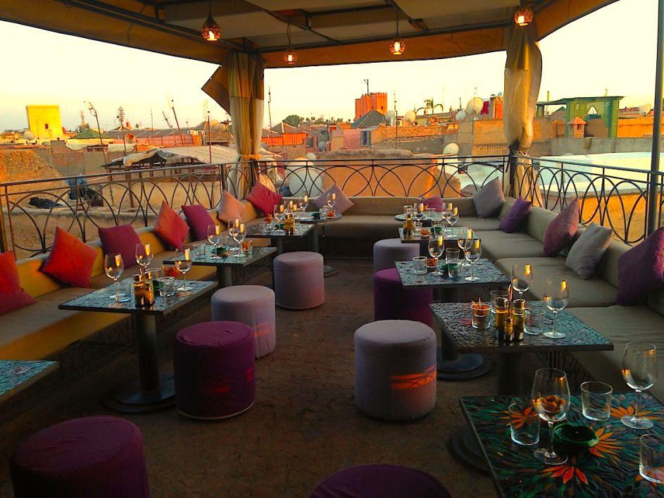 cafe arabe marrakesh morocco