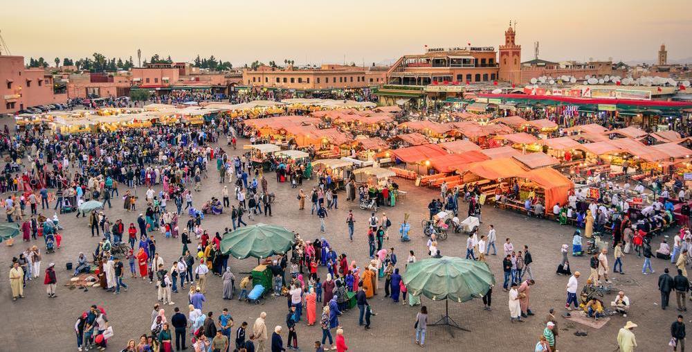 jemaa el fna square in marrakesh morocco