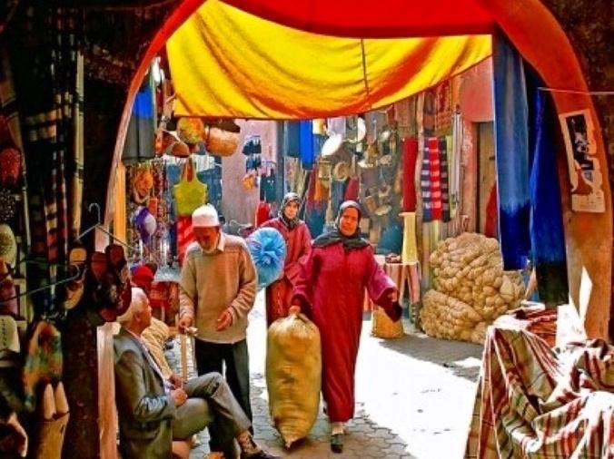 souks in marrakesh morocco