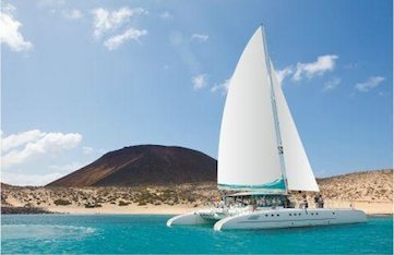 Sailing in Lanzarote in the Canary Islands with Yoga Escapes.
