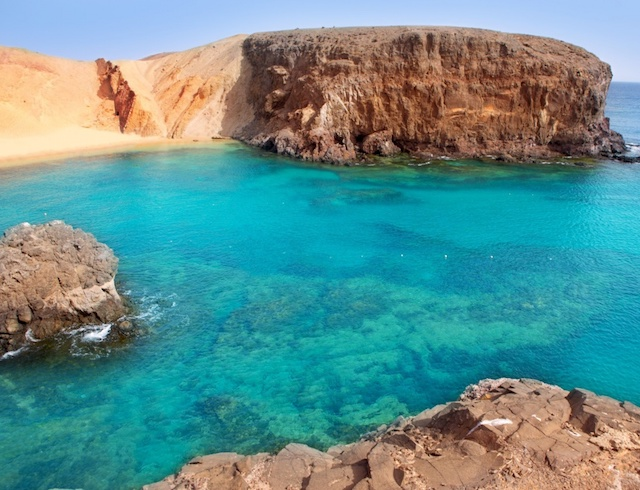 Papagayo beach Lanzarote Canary Islands on a yoga retreat with Yoga Escapes