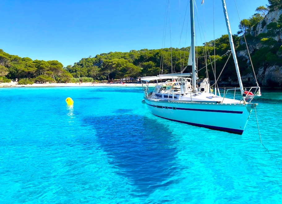 sailing in menorca spain on a yoga retreat