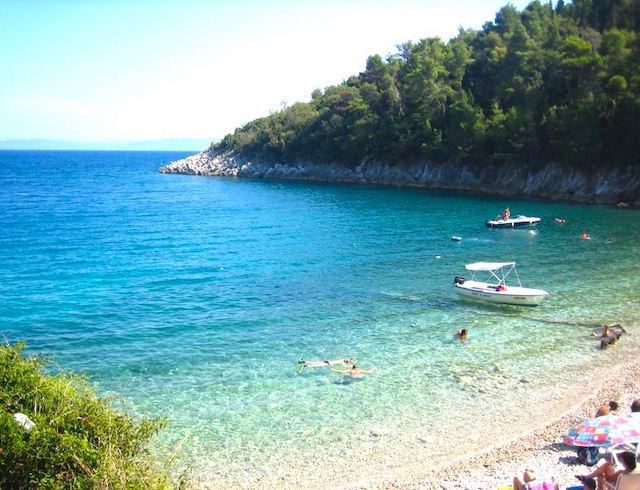 beach in croatia on a luxury yoga retreat
