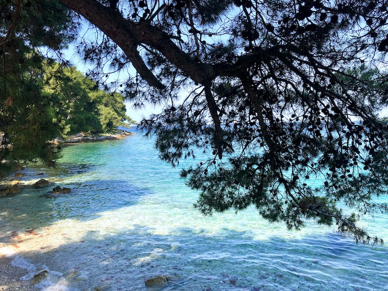 blue sea in croatia on a yoga retreat
