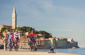 cycling on a yoga retreat in croatia