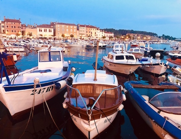 marina in rovinj croatia on a yoga retreat